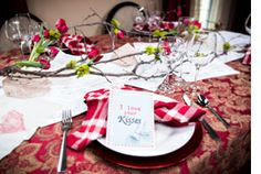 #HomeandFamilyTV #ValentinesDay #tablescapes with #RachelHollis