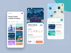 Travel App UI designed by CreativePeoples. Landing Page Builder, Landing Page Design, App Ui Design, Web Design, Landing Page Generator, Ui Design Patterns, Ui Inspiration, Travel Tours, Saint Charles