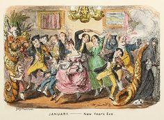 New Year's Eve 1837-38, from  George Cruikshank's : Comic Almanack, January 1838