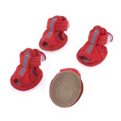 2 Pairs Rubber Sole Red Mesh Sandals Yorkie Chihuaha Dog Shoes Size S -- Read more info by clicking the link on the image. #DogOutdoorClothings