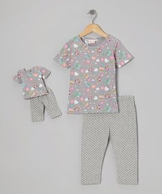 Take a look at this Gray I Love Hooo Pajama Set & Doll Outfit by 4EverPrincess on #zulily today!