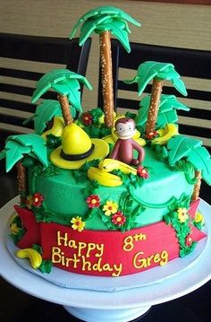 Curious George Birthday Cake and Cupcake Decoration Ideas
