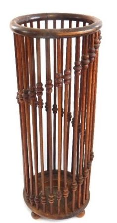 Hunzinger Turned Wood Cane Umbrella Holder Display Victorian | eBay