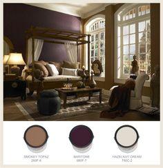 Living room color idea... I think I would do the Hazelnut Cream instead of the darker Topaz color tho