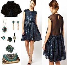 Come vestirsi a Capodanno abito petrolio >> http://www.youglamour.it/vestirsi-capodanno-tante-idee-il-look-fine-anno/