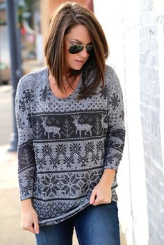 Fair Isle Tunic {Charcoal}