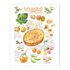 Christmas pie recipe print