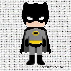 Child Batman Cross Stitch Pattern