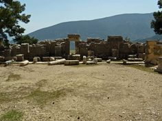 Orchestra and Podium of the Theatre of Arykanda,   Antalya Turkey  -Ancient Theatre