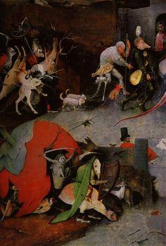Hyeronimus Bosch, «Las tentaciones de san Antonio», detalle