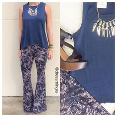 SEE IT ON! | Snake print [yoga style] flare pants are SO comfy & can easily go from day to night! WE SHIP!! #dressmingle #ootd #lotd #seeiton #style #fashion #outfitpost #inmycloset #closet