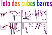 loto Numération cubes/barres CP CE1
