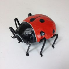 Paper Mache Ladybugs