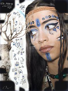 Warrior Princess Tribal Make-up by CPA-x-e-n-o-i.deviantart.com
