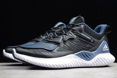 2019 adidas Alphabounce Beyond M Black Blue White For Sale Mens Skechers, Training Sneakers, New Shoes, Blue And White, Black, Running Shoes, Tennis, Adidas Sneakers, Shopping