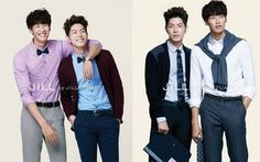 "Models and Actors Kim Young Gwang and Hong Jong Hyun Show Off Their Bromance For ""Jill by Jill Stuart"""