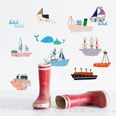 Boats Wall Sticker by Mimi'lou Paris.