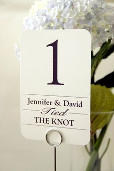 Customised table numbers - see more at http://themerrybride.org/2014/06/06/friday-finds-from-etsy-com-11/