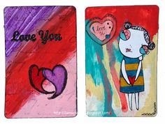 LOTSA SCRAP from 2amscrapper: Altered Playing Cards 13 and 14: Love You