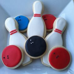 Bowling Cookies by BitesBakedGoods on Etsy, $33.00