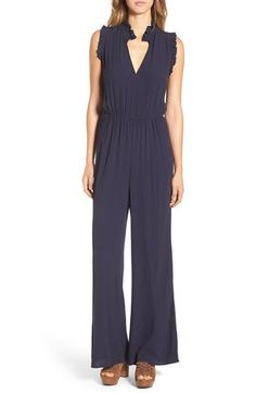 Leith Ruffle Neck Jumpsuit available at Hobo Chic, Latest Colour, Gal Meets Glam, Nordstrom Dresses, Wide Leg Pants, No Frills, Bodice, Topshop, My Style