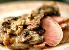 #Roastbeef di manzo in crema di funghi #recipe #ricetta
