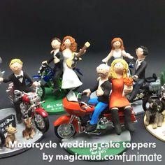 Motorcycle wedding cake toppers #motorcyclewedding #weddingcaketopper #motorcycle #caketoppers