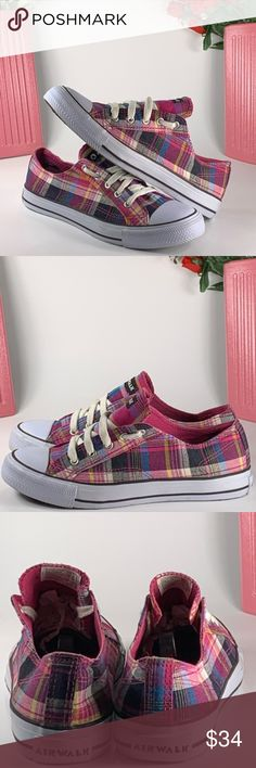 Vinrantly Checkered Canvas Shoes : side wall check