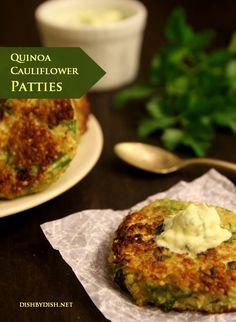 Garlic & Cheese Quinoa Patties Recipes — Dishmaps