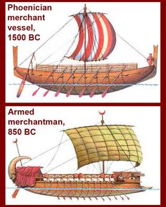Merchant ships eventually were armed and double decked. The upper deck offered … Merchant ships eventually were armed and double Ancient Rome, Ancient Art, Ancient History, Sea Peoples, Naval History, Model Ships, Bronze Age, Ancient Civilizations, Sailing Ships