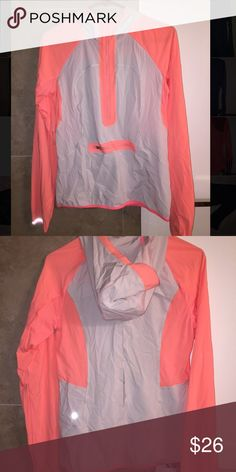 LULULEMON windbreaker quarter zip size 6 Really cool light tan and light salmon quarter zip. Gets wrinkly easily because the material is so lightweight but I use downy wrinkle released and it takes them out! Got as a gift and wore once but it's too lightweight for my needs! lululemon athletica Jackets & Coats