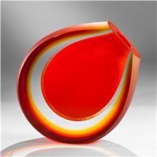 Pavel Havelka-Sahara Art Glass Vase - Red-HAV-VAS-SAHA-RED-RED