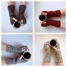 Fingerless gloves 2 pair for 24, crochet arm warmers, fingerless mitts