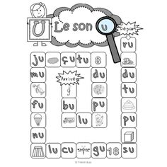 Les sons a, e, i, o, u - jeu de l'oie Home Schooling, Kids Cards, Literacy, Diagram, Teaching, Conscience, French, Letter Games, Learning