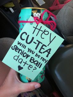 Sweet and inexpensive! Plus, everyone loves tea..and if they don't, don't ask them to #prom ;)