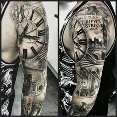 Tattoo uhr stadt