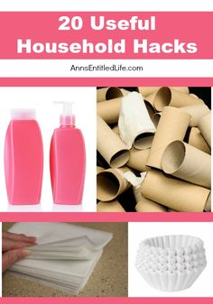 20 Useful Household Hacks; many household products start out with one specific purpose in mind, but other uses are quickly found in addition to that product's original intent. Some household hacks are silly, some are wasteful, but are truly useful in a pinch! Here are some useful household hacks you might really like to try.  http://www.annsentitledlife.com/household-tips/20-useful-household-hacks/