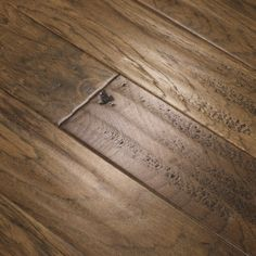 "1/2"" Engineered T Hickory Wire Brushed & Hand Scraped Naples 5"" Wide - Grande Collection - Westhollow Floors - Hardwood Flooring iFLOOR.com"