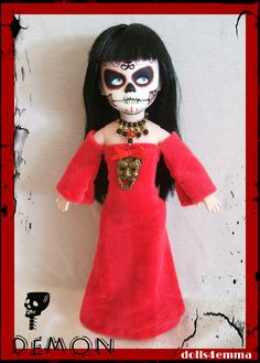 DEMON:  Handmade Goth and Necklace for LIVING DEAD DOLLS - by DOLLS4EMMA, $18.00