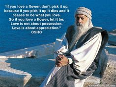 Love is about appreciation.