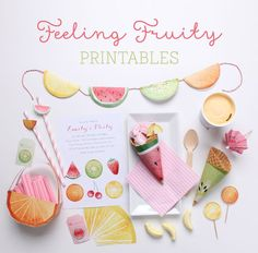 'Feeling Fruity' Free Fruit Printables ~ Tinyme