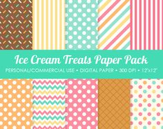 Rainbow Digital Printable Paper Pack  For by MareeTruelove on Etsy, $3.00