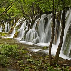 Arrow Bamboo Falls in the Riza Balley in Sichuan Province, China