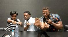 Black Panther cast Chadwick Boseman (T'Challa)...