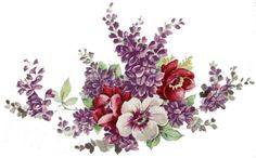 XL-LiLacS-PanSieS-SHaBbY-WaTerSLiDe-DeCALs-FurNiTuRe-SizE