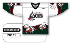 Custom Sublimated Hockey Jersey Design 0954 can be made in any color combination, any lettering & number styles, flat price includes all decoration, free shipping.