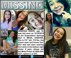Missing, Arizona, superstition, mall, 16, teenager, female