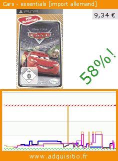 Cars - essentials [import allemand] (Jeu vidéo). Réduction de 58%! Prix actuel 9,34 €, l'ancien prix était de 22,09 €. https://www.adquisitio.fr/disney/cars-essentials-import