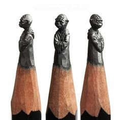 A delicada arte de esculturas em lápis