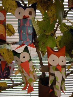 WHAT'S HAPPENING IN THE ART ROOM??: 1st Grade Owl Sculptures